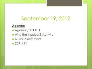 September 19, 2012