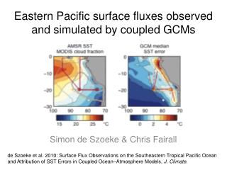 Eastern Pacific surface fluxes observed and simulated by coupled  GCMs
