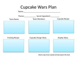 Cupcake Wars Plan
