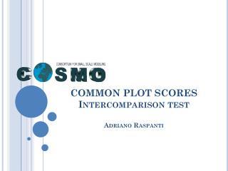 COMMON PLOT SCORES Intercomparison test Adriano Raspanti