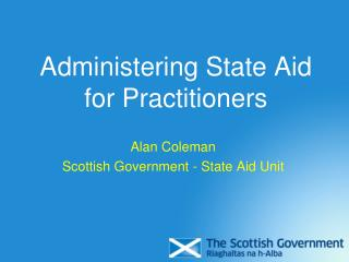 Administering State Aid for Practitioners