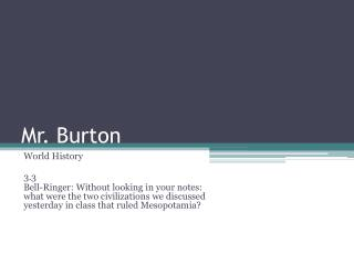 Mr. Burton