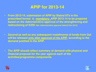 APIP for 2013-14
