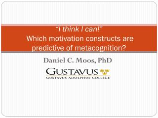 """I think I can!""  Which motivation constructs are predictive of metacognition?"