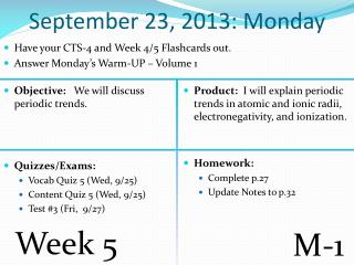 September  23 ,  2013: Monday