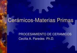 Cerámicos-Materias Primas