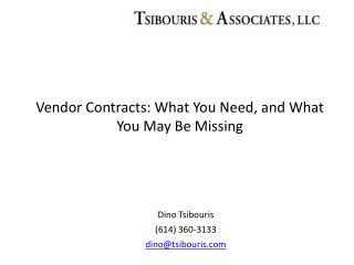 Vendor Contracts: What You Need, and What You May Be Missing