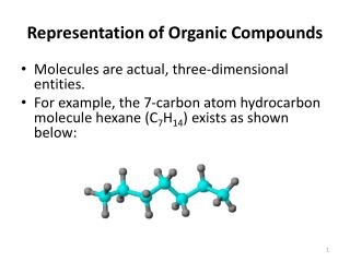 Representation of Organic Compounds