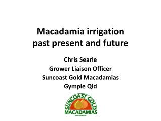 Macadamia irrigation past  present and future