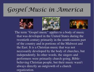 Gospel Music in America