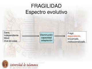FRAGILIDAD Espectro evolutivo