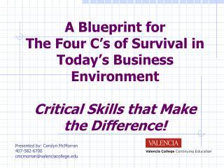 Presented by: Carolyn McMorran 407-582-6700 cmcmorran@valenciacollege.edu