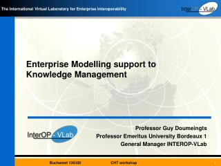 Enterprise  Modelling  support to  Knowledge  Management