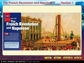 Preview Starting Points Map Main Idea / Reading Focus Causes of the Revolution