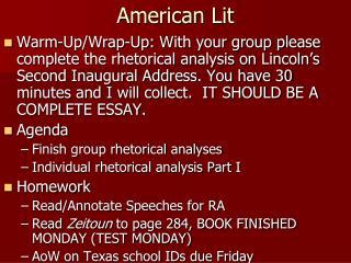American Lit