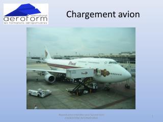 Chargement avion