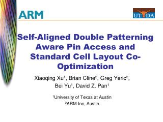 Self-Aligned Double Patterning Aware Pin Access and Standard Cell Layout Co-Optimization