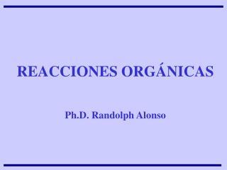 REACCIONES ORG NICAS