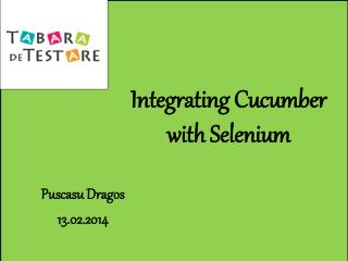 Integrating Cucumber with  Selenium