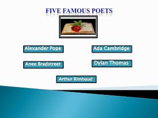 Five Famous Poets