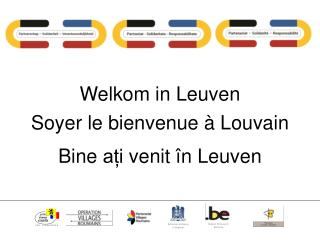Welkom in  Leuven Soyer le bienvenue à Louvain Bine  ați venit în Leuven