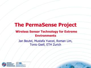 The PermaSense Project Wireless Sensor Technology for Extreme Environments