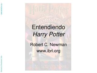 Entendiendo  Harry Potter