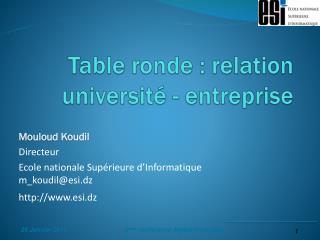 Table ronde : relation universit� - entreprise