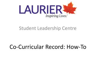 Co-Curricular Record: How-To