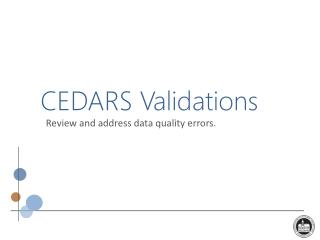 CEDARS Validations