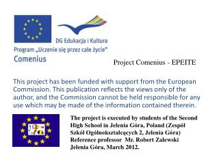 Project Comenius - EPEITE