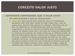 CONCEITO VALOR JUSTO