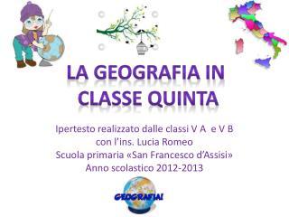 Ipertesto realizzato dalle classi V A  e V B con l' ins . Lucia Romeo
