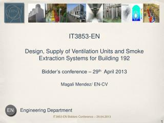 IT3853-EN Design , Supply of Ventilation Units and Smoke Extraction Systems for Building  192