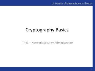 Cryptography  Basics