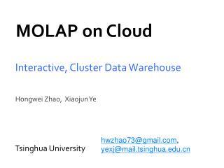 MOLAP on Cloud