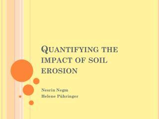 Quantifying the impact of soil erosion