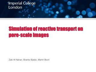 Simulation of  reactive transport on pore-scale images