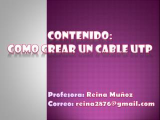 contenido:  como crear un cable  utp