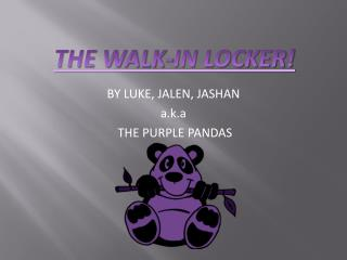 BY LUKE, JALEN, JASHAN  a.k.a  THE PURPLE PANDAS