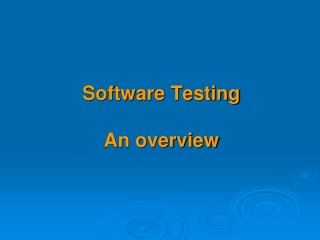 Software Testing Metrics and Standards