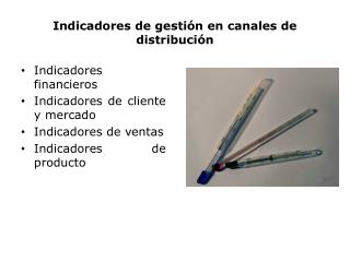 Indicadores de gestión en canales de distribución