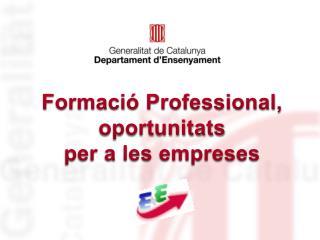 Formació Professional, oportunitats  per a les empreses