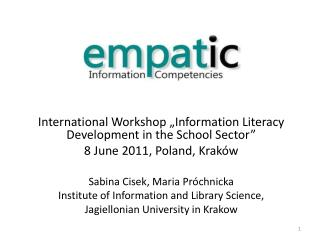 "International Workshop ""Information Literacy Development in the School Sector"""