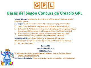 Bases del Segon Concurs de Creació  GPL