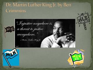 Dr. Martin Luther King Jr . by Ben  Crimmins