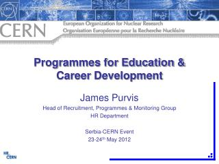 Programmes for Education & Career Development
