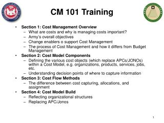 Section 1: Cost Management Overview What are costs and why is managing costs important?