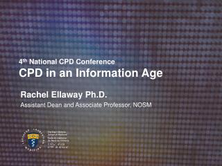 4 th  National CPD Conference CPD in an Information Age