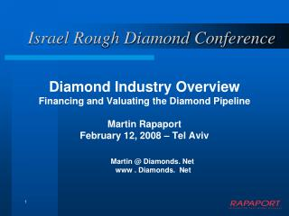 Israel Rough Diamond Conference